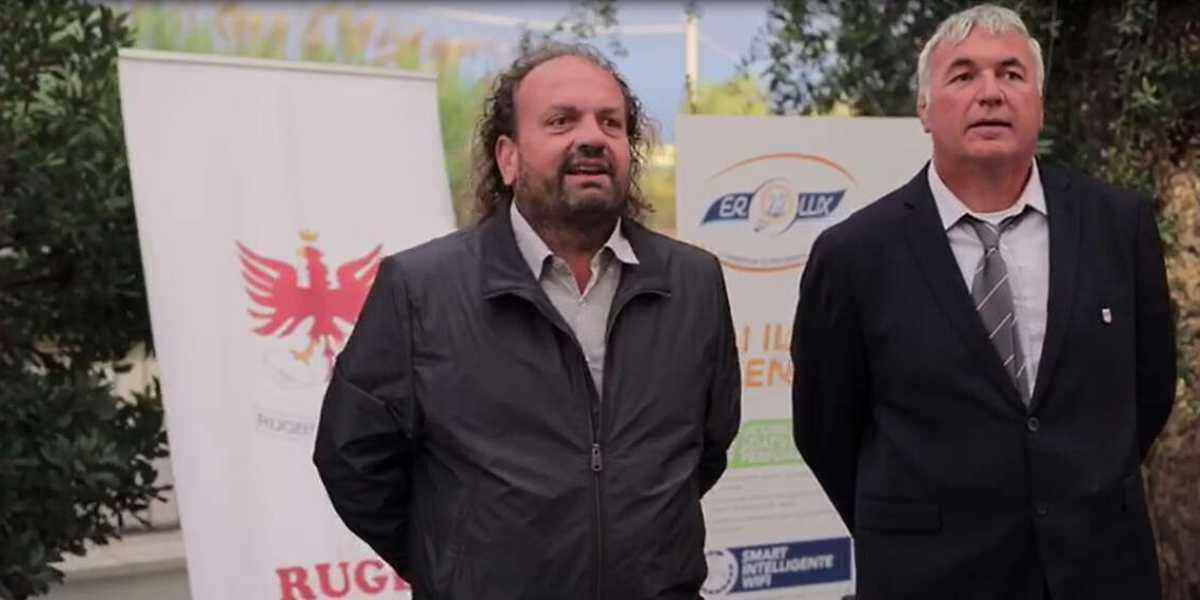 Emanuele Rinieri di ER Lux con Paolo Saranassi, Presidente RF79